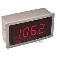 Termometr panelowy LCD W1240 RED DS18B20 czerwony