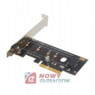 Adapter M.2 NVMe NGFF key M SSD dysku do PCI-e x4