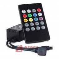 Sterownik LED RGB muzyczny 72W z pilotem, reaguje na dzwięk, kontroler