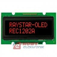 Wyświetlacz LCD OLED 16x1  RED