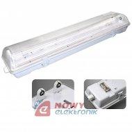 Oprawa świetlówkowa LED 2x58W IP65 ABS/PS 150cm