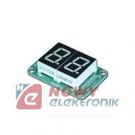 Wyświetlacz LED 2 cyfry HC595 3-5V 19x26mm