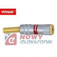 Gniazdo JACK 2,5mm st.na kab.VIT złoty VITALCO J420