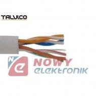 Przewód LAN UTP-5E drut CCA TALVICO L-210