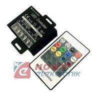 Sterownik LED RGBW RF z pilotem zestaw 12-24V 4x8A 384W radiowy