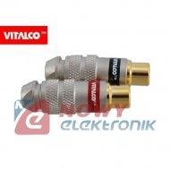 Gniazdo RCA RG11 Vitalco 5,6mm na kabel