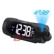 Radiobudzik BLAUPUNKT CRP9BK 2xalarm+termometr z projektorem+USB