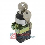 Stacyjka XB2-BG21 3A/240V 23mm ON-OFFprzełącznik z kluczykiem