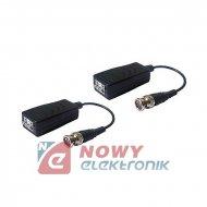 Transformator Video VB2 HD 2szt kpl. z przewodem i ochronnikiem udarowym