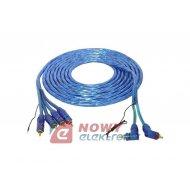 Kabel 4*RCA-2*RCA+ kab. ster. 5M 4*wt.prosty-2*wt.kąt