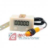 Licznik impulsów z czujn.magnet. 0-99999 M12 10mm VJ12-D10K