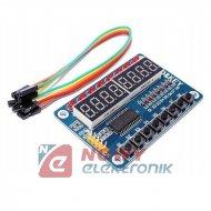 Moduł LED&KEY 8-cyfrowy 8-przyc. TM1638 do ARDUINO