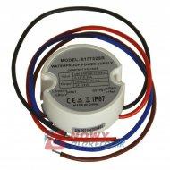 Zasilacz ZI LED 12V/1A ECO IP67 25W okrągły plastik do puszki