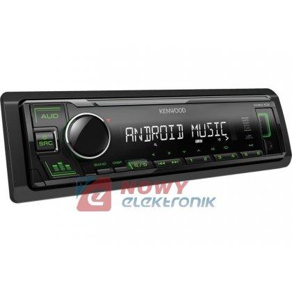 Radio samoch.KENWOOD KMM-105GY USB/AUX GREEN podświetlenie