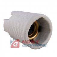 Oprawka E14 ceramiczna  EF14A biała