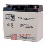 Akumulator 12V-18Ah  AGM MWL klema oczko żelowy 18-12F 181x77x167 T3