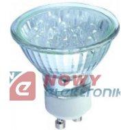 Żarówka LED /GU10 biała 230V   LED-GU1018-WHT 1,8W