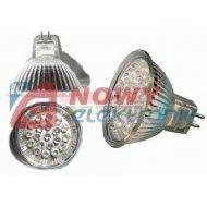 Żarówka LED21 MR16/św.zimne  12V 1.4W białe