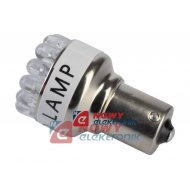 Żarówka LED19 samoch.BA15s biały 12V  S25-19LED/1156