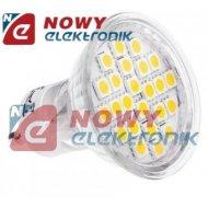 Żarówka LED 24/GU10 4,5W b.ciep. LIGHTECH 230V 24LED SMD 5050