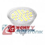 Żarówka LED 24/MR16 4,5W b.zimna LIGHTECH 12V 24LED SMD 5050