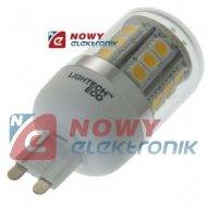 Żarówka LED G9 4W LIGHTECH CORN biały ciepły 3000K 5050 230V