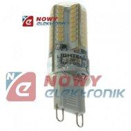 Żarówka LED G9 2,2W LIGHTECH sil 230V biały ciepły 3000K w Silikonie