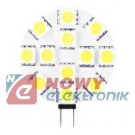 Żarówka LED G4 12V 2,4W LIGHTECH ring płaska/ biały ciepły 3000K