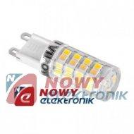 Żarówka LED G9 51LED 3,5W SMD VIPOW biała ciepła 3000K  230V
