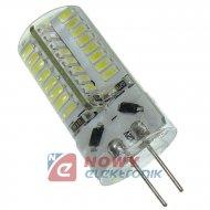 Żarówka LED G4 12V DC 3W b.zimny LED 64SMD 3014 w silikonie
