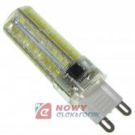 Żarówka LED G9 230VAC 5W b.zi HQ LED80SMD 2835 w silikonie regulacja mocy