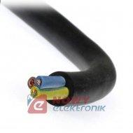 Przewód OWŻO 3x1mm 300-500V czarny do urządz.elektr.gumowany