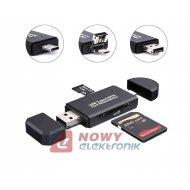 Czytnik kart pamięci 5w1 USB-A/micro/C