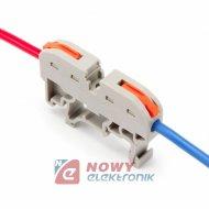 Szybkozłączka 2-tor drut/linka na szyne DIN zaciskowa 32A 0.08-4.0mm2