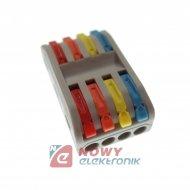Szybkozłączka 4/8-tor kolor SPL-4 zacisk złączk elektryczna