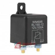 Przekaźnik samochodowy 12V 100A zwierny na śruby WM686 RL/180-12
