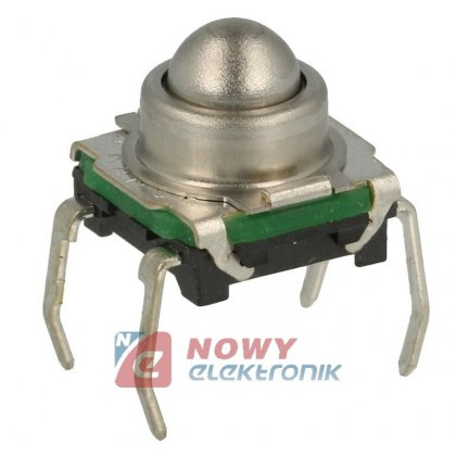 Mikroswitch 7,4x7,4mm 6,65/1,95 mm okrągły hermetyczny