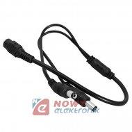 Rozdzielacz DC zasil.12V 1weX2wy na kablu 20-25cm 2.1/5.5