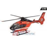 Model Helikopter straż EC-135 czaerwony skala 1:43