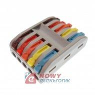 Szybkozłączka 5/10-tor kolor SPL-5 zacisk złączk elektryczna