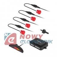 Czujnik Cofania z wyśw. 4 czerw PEIYING LED (parkowania)