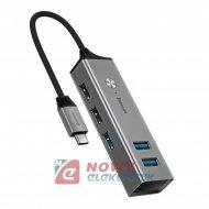 HUB USB-C 3.0 5xUSB Baseus Cube CAHUB-D0G
